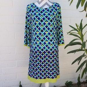 Fun and Elegant Checkered Blue Dress
